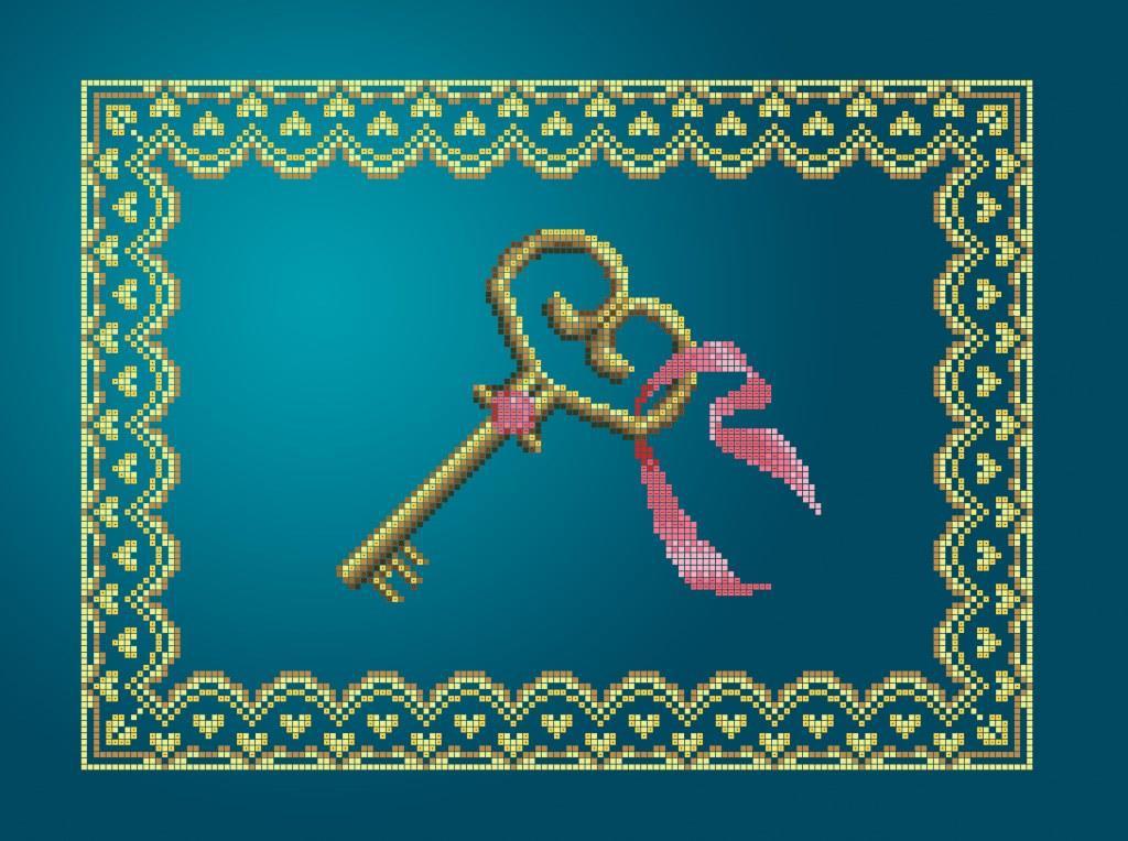 Схема для вишивки та вишивання бісером Бисерок «Ключ» (A3) 30x40 (ЧВ-5353(10))