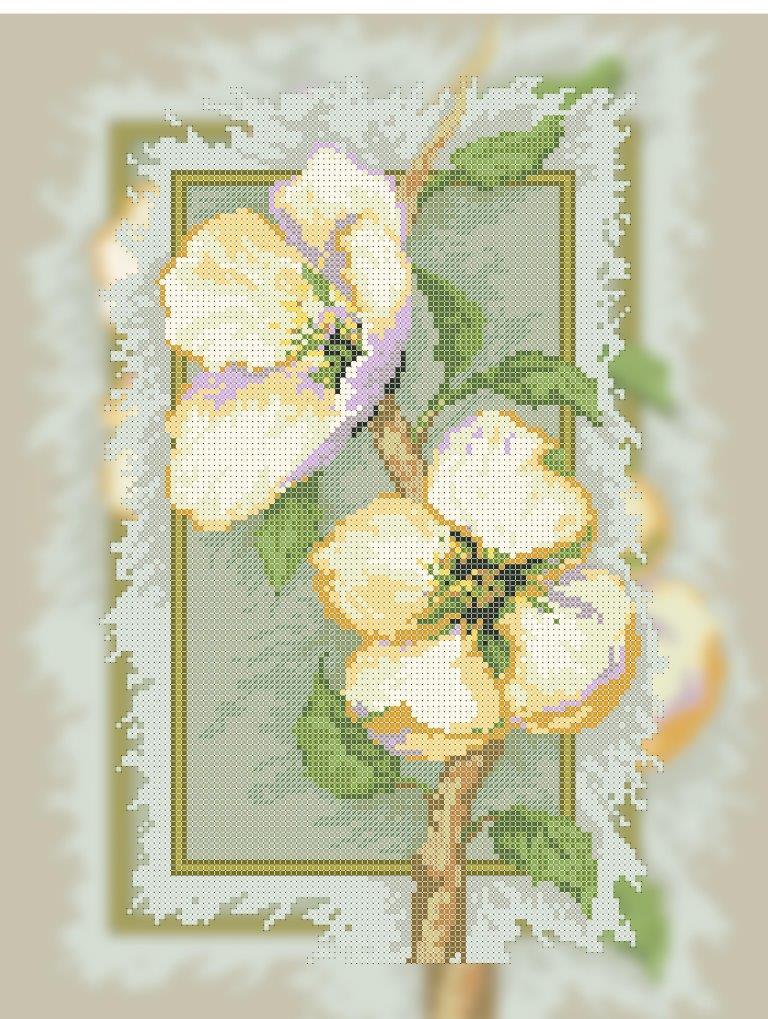 Схема для вишивки та вишивання бісером Бисерок «Цвіт жасмину» (A3) 30x40 (ЧВ-5350 (10))
