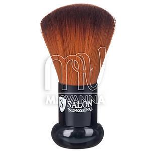 Сметка  для волос Salon Professional, 5 см длина ворса, маленькая ручка, коричневый