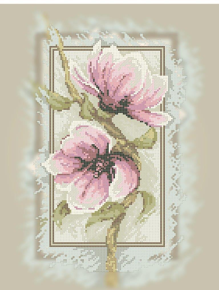 Схема для вишивки та вишивання бісером Бисерок «Цвіт магнолії» (A3) 30x40 ( 088bc048ed7b1