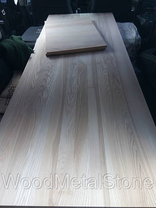 Деревянный Мебельный щит ЯСЕНЬ, 18-20мм, цельнолам, 1 сорт, доставка по Украине, фото 2