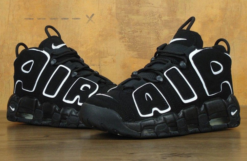 "Кроссовки Nike Air More Uptempo ""Black"" (Реплика ААА+)"