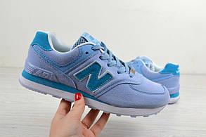 Кроссовки женские New Balance 574 голубые 2518