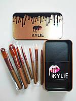 Набор профессиональных кисточек Kylie (Кайли) 7в1 Professional Brush Set, золото