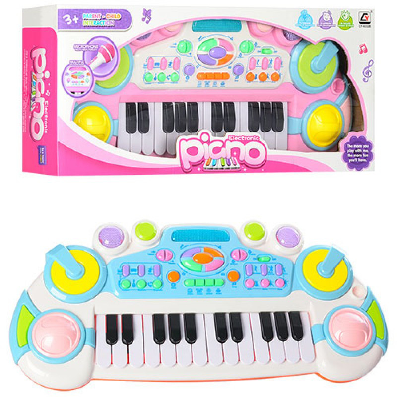 Синтезатор - Детский музыкальный центр, 24клавиш, запись, 6ритмов,CY-6032B
