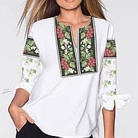 Заготовка вишиванки жіночої сорочки та блузи для вишивки бісером Бисерок  «Калина в орнаменті» ( 96cfb018d706f