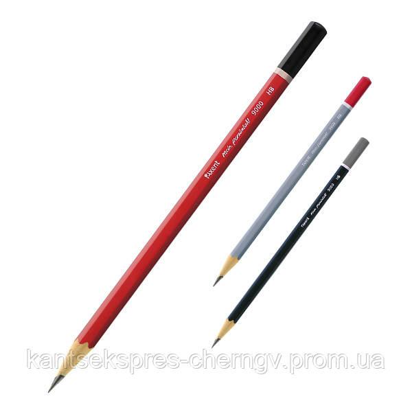 Карандаш графитный Axent 9000-А, НВ, 100 шт., Туба
