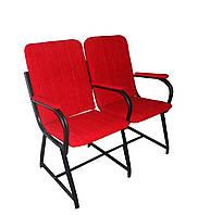 Кресло для актового зала, К02 (деревянный подлокотник)