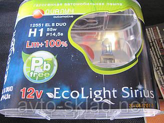 Лампи авто H1 12V 55W Диалуч EL S +100% 3800K