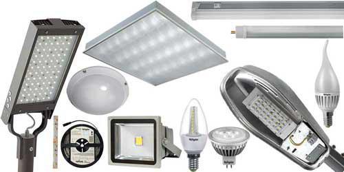 LED, Лампы, провода, светильники, прожектора, уличные лампы