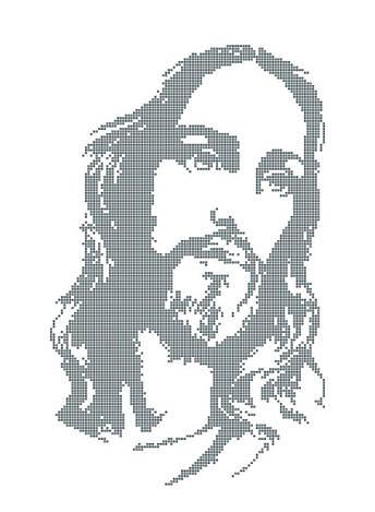 Схема для вишивки та вишивання бісером Бисерок ікона «Ісус /5223/» (A3) 30x40 (ЧВ-5223(10))