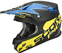 "ШЛЕМ Scorpion VX-20 AIR MAGNUS matte Black/blue/yellow ""L"", арт. 20-154-123"