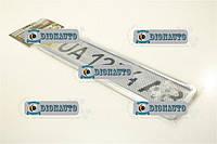 Рамка номера (нержавейка) с сеткой Vitol  (РНС-55055 (30))