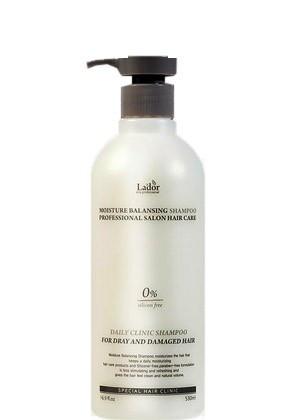 Зволожуючий шампунь без силіконів La'dor Moisture Balancing Shampoo 530 ml