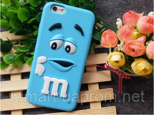 Чехол M&M's iPhone 7 Plus голубой