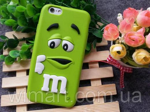 Чехол M&M's iPhone 7 Plus зеленый