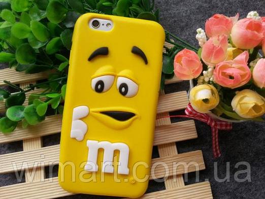 Чехол M&M's для iPhone 7 желтый