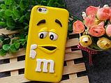 Чехол M&M's для iPhone 7 голубой, фото 4