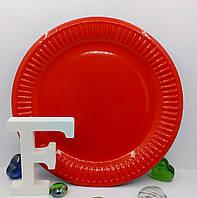 Тарелки для детского праздника красные 18 см