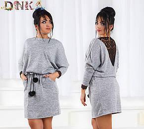 Платье с кружевной отделкой и балабонами , фото 2