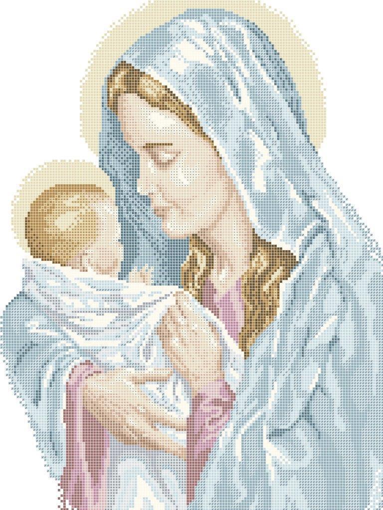 Схема для вишивки та вишивання бісером Бисерок «Мадонна з немовлям» (A3)  30x40 6d701cdd2062d