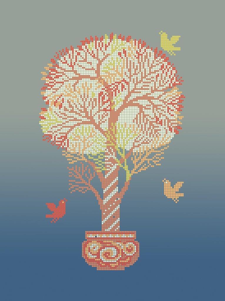 Схема для вишивки та вишивання бісером Бисерок «Грошове дерево» (A3) 30x40 (ЧВ-5092(10))