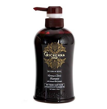 Richenna Gold Henna Clinic Shampoo Укрепляющий шампунь 500ml