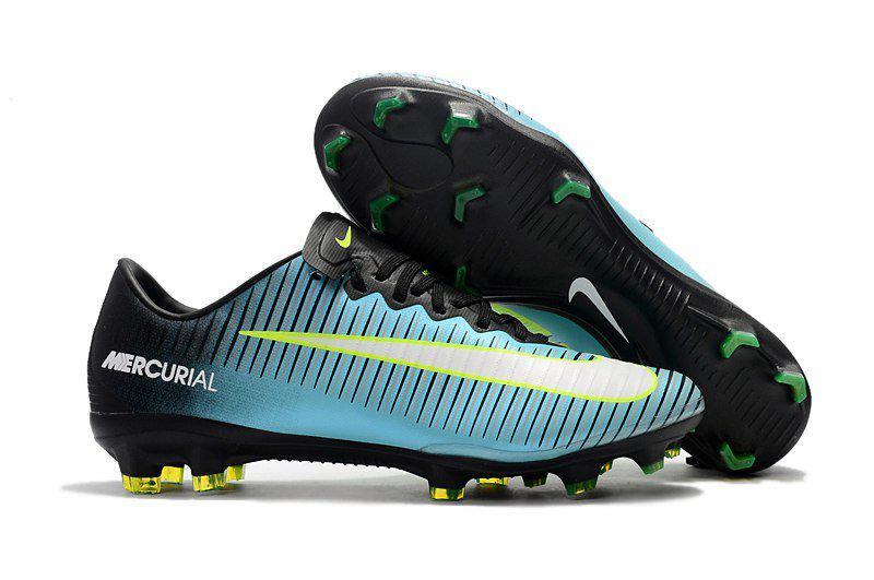Бутсы Nike Mercurial Vapor Х FG black blue - Интернет-магазин