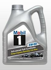 Масло моторное Mobil 1 5W-50,  API SN/CF, ACEA A3/B4 (Канистра 4 литра)