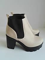 Женские демисезонные ботинки Челси 37.5 размер