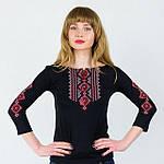 Женская вышиванка с рукавом 3/4 вышивка крестиком, фото 2