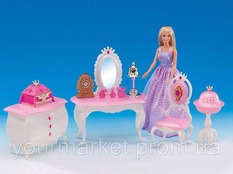Набор Комната принцессы Gloria 1208 стол с зеркалом, комод, стул, аксе