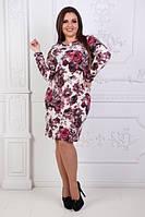 Женское платье нарядное офис ангора-софт ткань размеры батал большие