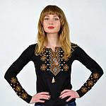 Женская вышиванка с длинным рукавом из трикотажа, фото 2