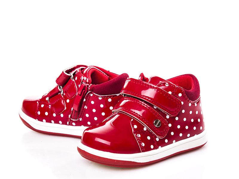 Ботинки для девочек, красные