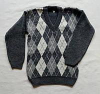 Вязаный свитер с ромбиками 1 2 3 года Турция