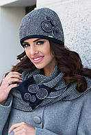 Silvia зимняя женская шапка, полушерстяная, темно-синий цвет, фото 1