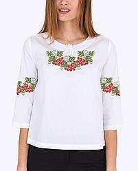 Заготовка вишиванки жіночої сорочки та блузи для вишивки бісером Бисерок «Україночка» (Б-78 Р ГБ) Габардин