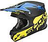 "ШЛЕМ Scorpion VX-20 AIR MAGNUS matte Black/blue/yellow ""M"", арт. 20-154-123"