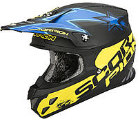 "ШЛЕМ Scorpion VX-20 AIR MAGNUS matte Black/blue/yellow ""M"", арт. 20-154-123"
