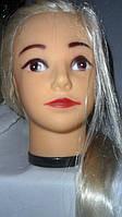 Манекен-голова с икусственными волосами блондинка
