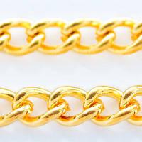 Цепочка витая железная, цвет золото, длина -5 м