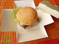Бумажная упаковка для пищевых продуктов 11Х11Х7, EcoBox