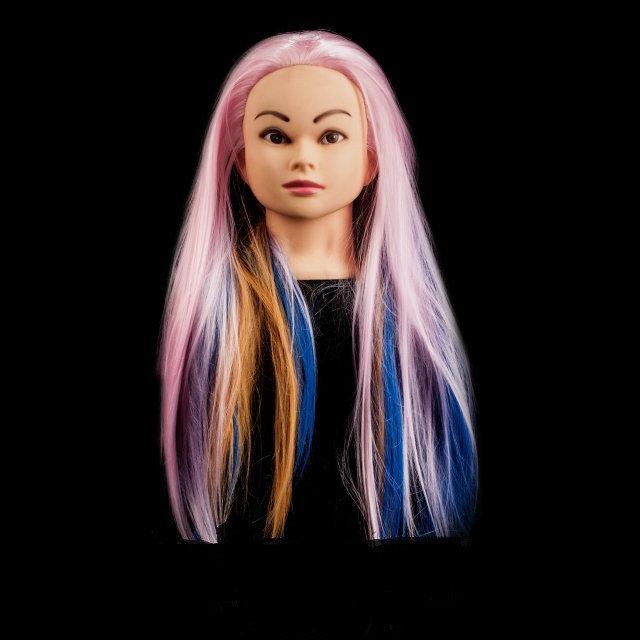 """Учебный манекен с волосами """" MIX colors"""", 60-65 см"""