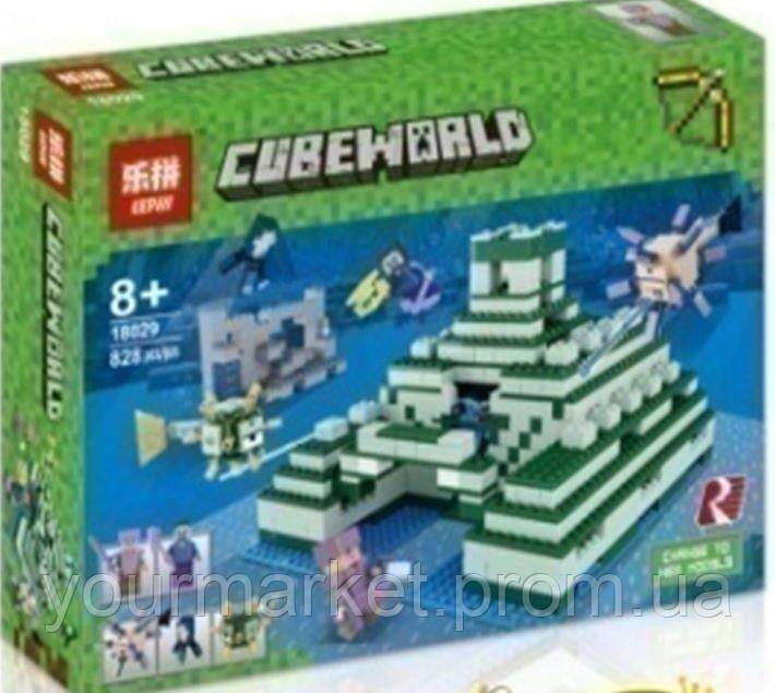 Конструктор Lepin Minecraft Пирамида в океане 828 деталей 18029