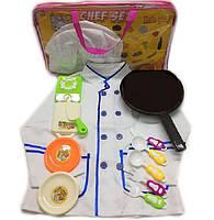 """Набор """"Повар"""" 2011-09 (48шт/2) поварской китель,колпак,плита,тарел,доска,сковор...в сумке"""
