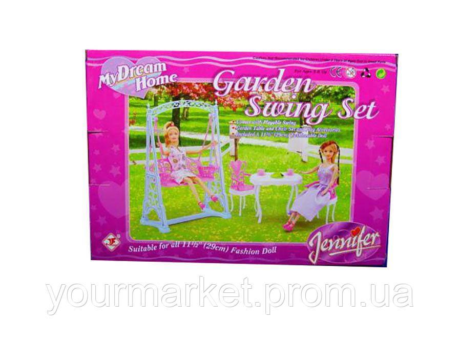 Мебель для кукол  Gloria Jennifer 2816 для террасы качеля, стол, стуль
