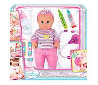 Кукла Пупс Play Baby 32смс интерактивным набором врача 32004
