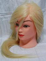 Учебная голова 30% натуральных волос,длина 50-65 см, фото 1