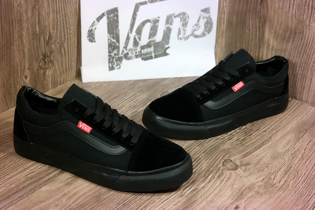 fd157eab9ea0 Мужские кеды Vans Vens Old School ванс вансы черные в наличии полиуретан  подошва
